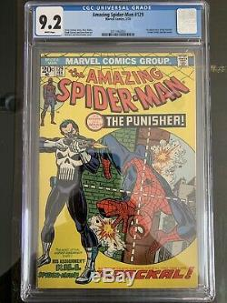 Amazing Spider-man #129 Cgc 9.2 White Pages 1st Punisher! High Grade Marvel Key