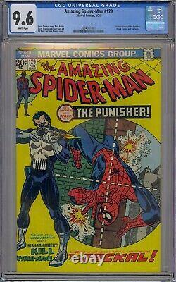 Amazing Spider-man #129 Cgc 9.6 1st Punisher Jackal White Pages