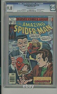 Amazing Spider-man #169 Stan Lee Cameo 1977 Cgc 9.8 Ow-white Pages