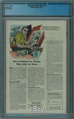 Amazing Spider-man #19 Cgc 6.5 1st Mac Gargan (scorpion) White Pgs 1964