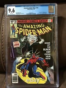Amazing Spider-man #194 CGC 9.6 White page 1st Black Cat Felicia Hardy NEWSSTAND