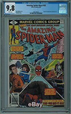 Amazing Spider-man #195 Cgc 9.8 2nd Black Cat Best Cgc Cvr White Pgs 1979
