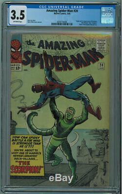 Amazing Spider-man #20 Cgc 3.5 1st Scorpion Off-white Pgs 1965