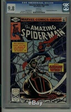 Amazing Spider-man #210 1st Madame Web Marvel Comic Nm/mint Cgc 9.8 White Pages