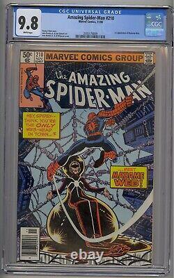 Amazing Spider-man #210 Cgc 9.8 Htf Newsstand 1st Madame Webb White Pages