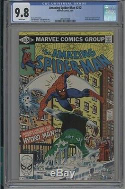 Amazing Spider-man #212 CGC 9.8 NM/MT 1st Hydro Man White pages 1981