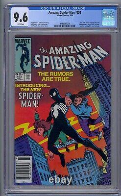 Amazing Spider-man #252 Cgc 9.6 1st Black Costume White Pages Newsstand