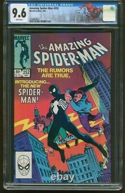 Amazing Spider-man #252 Cgc 9.6 White Pages 1st Black Costume Marvel 1984 G-524