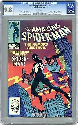 Amazing Spider-man 252 Cgc 9.8 Nm/mt 1st Black Suit (venom Symbiote) White Pages