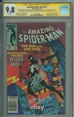 Amazing Spider-man #252 Cgc 9.8 White Pages // Signed By Stan Lee + 8 Others