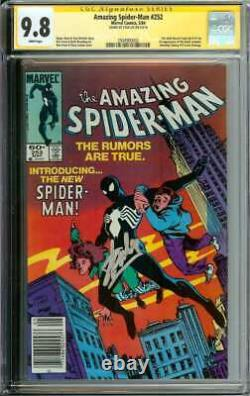 Amazing Spider-man #252 Cgc 9.8 White Pages // Signed By Stan Lee + Newsstand