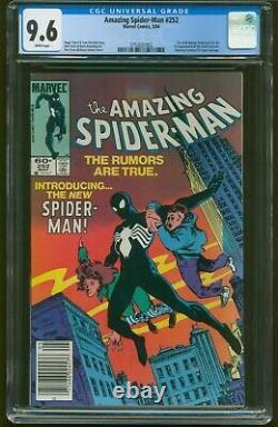 Amazing Spider-man #252 Newsstand Cgc 9.6 White Pages 1st Black Costume G-546