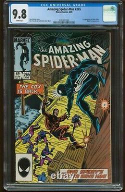 Amazing Spider-man # 265 Cgc 9.8 Near Mint/mint 1st Silver Sable White G-547