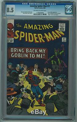 Amazing Spider-man #27 Cgc 8.5 Ditko Art Off-white To White Pages Silver Age
