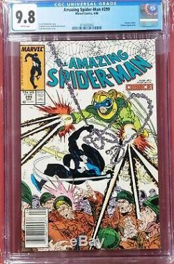 Amazing Spider-man #299 cgc 9.8 Very RARE NEWSSTAND White Pages spiderman Venom