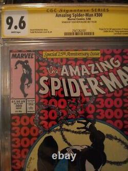 Amazing Spider-man #300 9.6 SS WHITE 1ST VENOM Nice Todd McFarlane Signed Copy