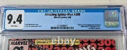 Amazing Spider-man #300 CGC 9.4 WHITE Newsstand Variant