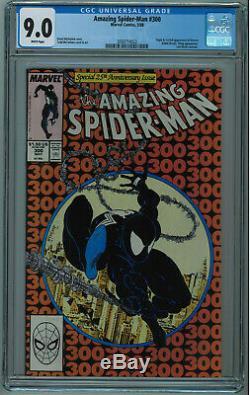 Amazing Spider-man #300 Cgc 9.0 1st Full Venom High Grade White Pages 1988 022