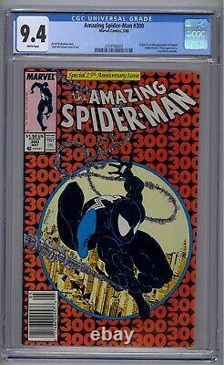 Amazing Spider-man #300 Cgc 9.4 1st Full Venom White Pages Newsstand