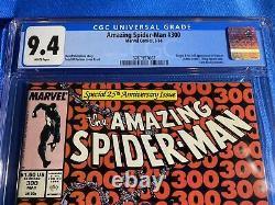 Amazing Spider-man #300 Cgc 9.4 Nm White Pgs 1st Appearance Venom Todd Mcfarlane