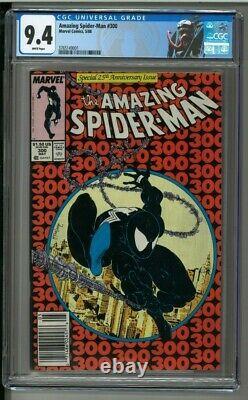 Amazing Spider-man #300 Cgc 9.4 White Pages First Venom Todd Mcfarlane