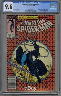 Amazing Spider-man #300 Cgc 9.6 1st Venom Mcfarlane Htf Newsstand White Pages