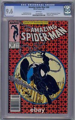 Amazing Spider-man #300 Cgc 9.6 Origin/1st Venom White Pages & Htf Newsstand