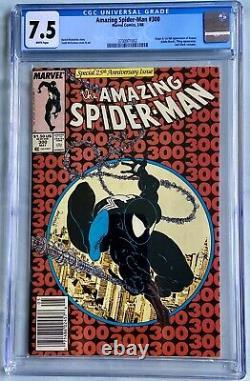 Amazing Spider-man #300 Newstand CGC 7.5 White Pages 1st Appearance Origin Venom