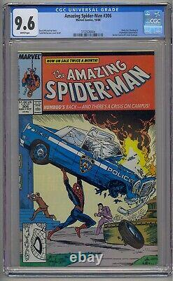 Amazing Spider-man #306 Cgc 9.6 White Pages Action Comics 1 Homage Mcfarlane
