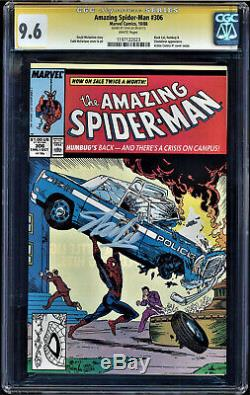 Amazing Spider-man #306 Cgc 9.6 White Ss Stan Lee 2nd Highest #1197122023 Mms
