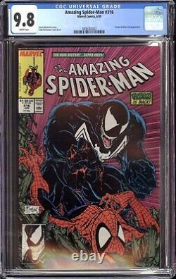 Amazing Spider-man #316 Cgc 9.8 Nm/mt White Pages 1st Venom Cover Todd Mcfarlane