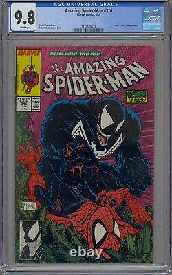 Amazing Spider-man #316 Cgc 9.8 Venom White Pages