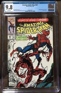 Amazing Spider-man #361 CGC 9.8 White pages 1st Full Carnage