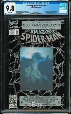 Amazing Spider-man #365 CGC 9.8 White 1st Spidey 2099 Bagley Hologram