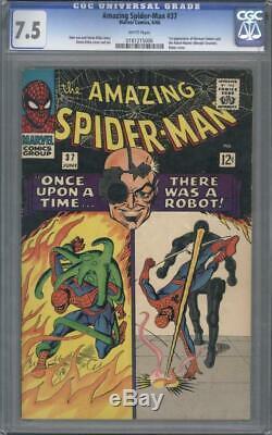 Amazing Spider-man #37 CGC 7.5 White Intro Norman Osborn (Green Goblin) 1st