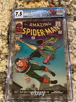 Amazing Spider-man #39 Cgc 7.5 Ow White Pages 1st Romita Spidey Osborn Is Goblin