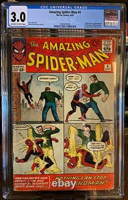 Amazing Spider-man #4 1st App Sandman, Betty Brant Off-white To White Cgc 3.0