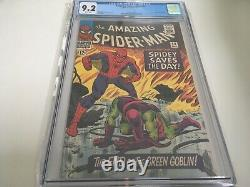 Amazing Spider-man #40 Cgc 9.2 White Pages // Origin Of The Green Goblin
