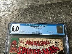 Amazing Spider-man #41 Cgc 6.0 Ow White Pages 1st Appearance Of Rhino Marvel Key