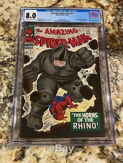 Amazing Spider-man #41 Cgc 8.0 Ow White Pages 1st Appearance Of Rhino Marvel Key