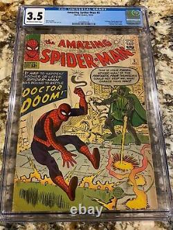 Amazing Spider-man #5 Cgc 3.5 Ow-white P New Mcu Movie 1st Dr Doom Crossover Hot