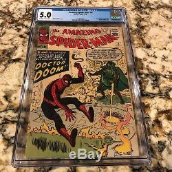 Amazing Spider-man #5 Cgc 5.0 Ow- White Pages Looks Nicer 1st Dr Doom Crossover