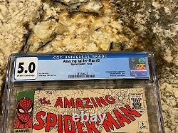 Amazing Spider-man #5 Cgc 5.0 Ow-white P New Mcu Movie 1st Dr Doom Crossover Hot