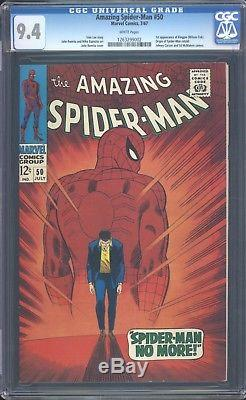 Amazing Spider-man 50 CGC 9.4 White Pages SIlver Age Key Comic 1st Kingpin L@@K