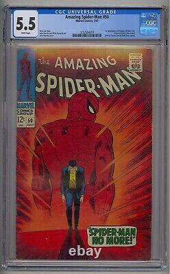 Amazing Spider-man #50 Cgc 5.5 1st App Kingpin White Pages