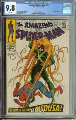 Amazing Spider-man #62 Cgc 9.8 White Pages // Medusa Cover/appearance