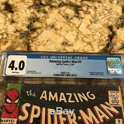 Amazing Spider-man #9 Cgc 4.0 Rare White Pages 1st Appearance & Origin Electro
