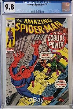 Amazing Spider-man #98 Cgc 9.8 White Pages Drug Story
