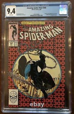 Amazing Spider-man Issue #300 Cgc 9.4 White Pages First Venom Mcfarlane