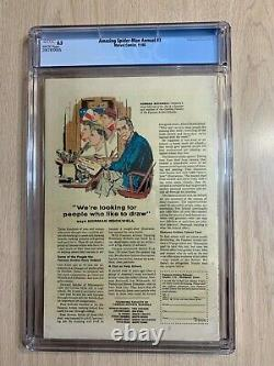 Amazing Spider-man King Size Special 3 Cgc 8.5 Vf+ White Pages 1966 Annual 3